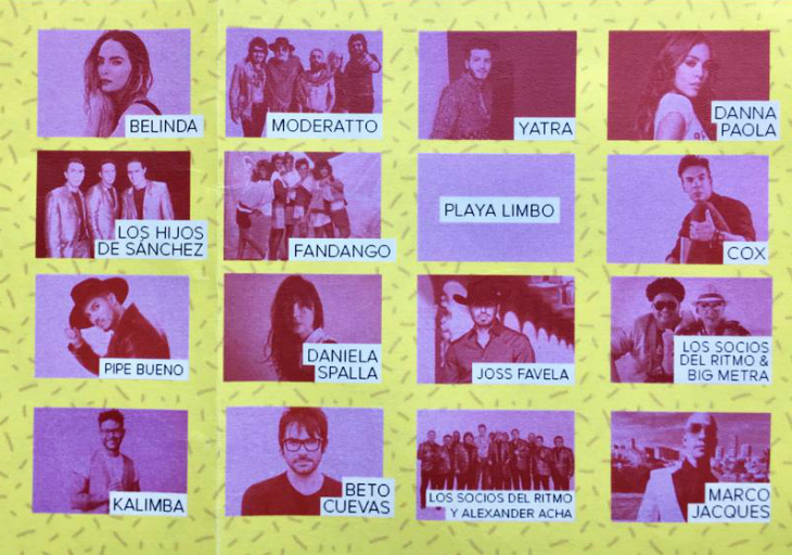 Este es line up official del ERES FEST