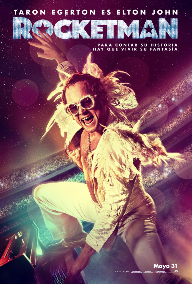 Así luce Taron Egerton como Elton John en la cinta Rocketman