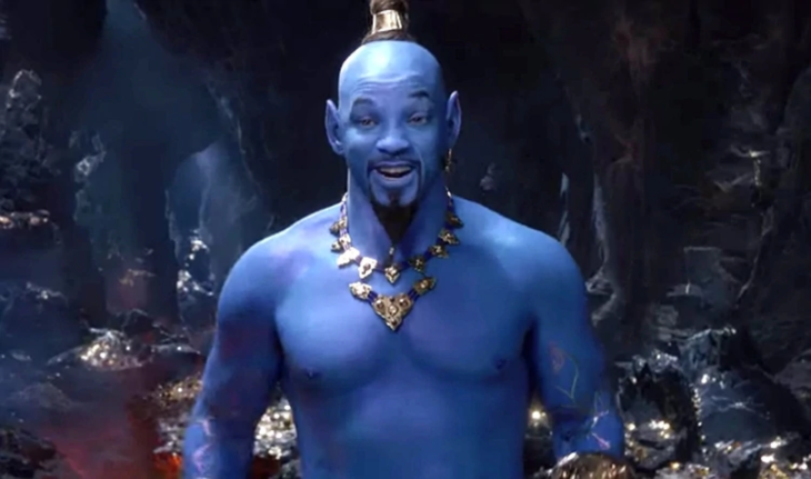 Así luce Will Smith como el Genio en Aladdin