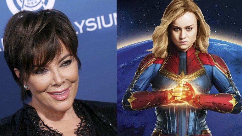 Kris Jenner y Capitana Marvel, ¡el crossover que no debes perderte!