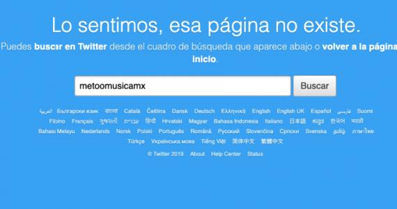 Eliminan cuenta de Twitter Me Too Músicos Mexicanos